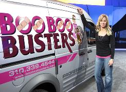 Kimberlee Mitchell, owner of Boo Boo Busters in Ladera Ranch, Calif., was one of five small-business owners who won a Ford Transit Connect van.