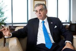 Transportation Secretary Ray LaHood during an interview with the Associated Press in Washington.