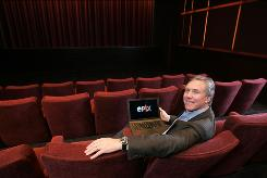 Epix President Mark Greenberg, in the Paramount Pictures screening room in New York City, hopes to attract lots of young adults to the cable channel.