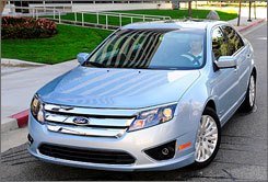 The 2010 Fusion is due in showrooms this month.