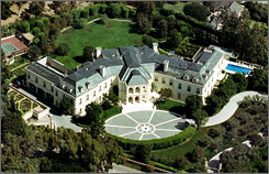 The widow of producer Aaron Spelling is placing the 56,000 square-foot house in the exclusive Holmby Hills neighborhood of Los Angeles on the market for $150 million,