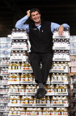 Honest Tea co-founder Seth Goldman at the Big Geyser beverage distribution plant in Queens, N.Y., on Jan. 27. &quot;We want to provide our product wherever beverages are sold,&quot; he says. President Obama's favorite flavor is Black Forest Berry. 