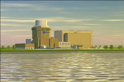 Artist's rendering of a nuclear facility in the Tennessee Valley.
