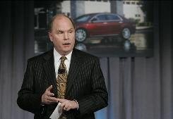 General Motors CEO Fritz Henderson addresses the media at his first news conference as CEO.