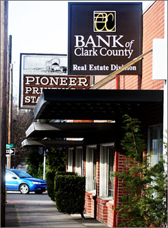 Washington's Bank of Clark County, once a rapidly growing success story, was seized by federal regulators on Jan. 16.