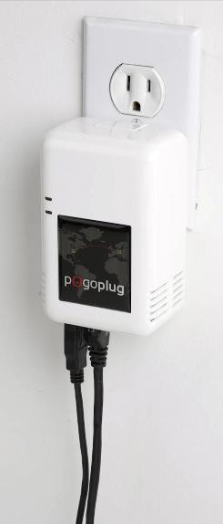 Pogoplug is about the size of a large AC adapter.