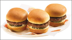 Johnny Rockets' Sliders are among the mini burgers now found on various eateries' menus.