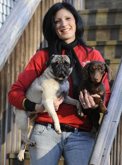 Laura Wellington is CEO of The Giddy Gander. She has a 3-year-old pug, Sarge, and 1-year-old miniature dachshund, Schnitzel.