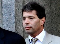 David Friehling, disgraced money manager Bernard Madoff's longtime accountant, leaves federal court in New York last month.
