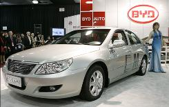 The BYD F6DM is introduced at the North American International Auto Show in Detroit on Jan. 14.