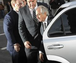Bernard Madoff arrives at Manhattan federal court in New York on March 12.