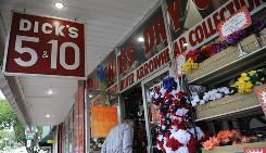 Dick's Oldtime 5 & 10 in the historic downtown shopping district in Branson has an inventory that includes thousands of items. Owner Steve Hartley is adding to his stock in anticipation of a new kind of customer to the area.