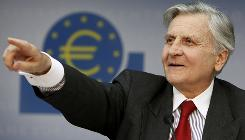 President of European Central Bank Jean-Claude Trichet announces that the ECB will lower its main interest rate to one percent.