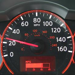 Nissan is among several automakers to add miles-per-gallon meters to its dashboard displays.