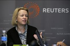 Securities and Exchange Commission Chairman Mary Schapiro speaks during the Reuters Global Financial Regulation Summit last month.