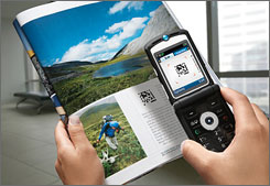 ScanLife and Jagtag barcodes can be photographed with your camera phone to access a variety of extra information.