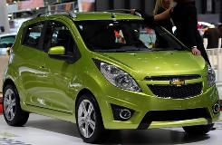 The Chevrolet Spark, a small car that GM plans to introduce in the U.S. in 2011.