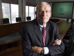 Ed Whitacre pauses in the boardroom at AT&T's headquarters in Texas. He retired as CEO in 2007, but is coming back to help out GM.