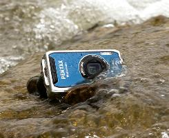 Pentax added a freezeproof feature to its already waterproof Optio W60 model camera.