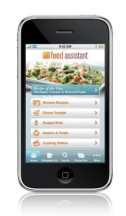 The 99-cent iFood Assistant by Kraft is available at the iTunes Applications Store.