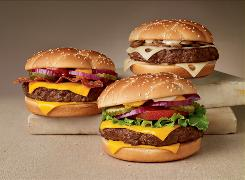 The Angus burgers are made with one-third pound of Angus beef.