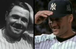"Babe Ruth, left, and Derek Jeter are in Pepsi commercials mixing old and new baseball images against an old and new version of the song ""Forever Young."""