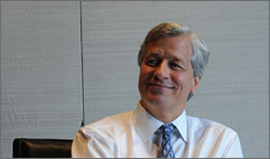 "JPMorgan Chase CEO Jamie Dimon was praised by President Obama ""for doing a pretty good job"" during the financial crisis."