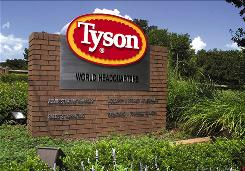 Tyson, the world's largest meat producer, posted a strong third-quarter profit powered by its poultry division.