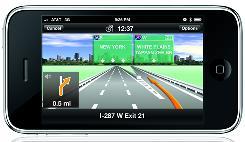 The new app for Apple's iPhone, Navigon MobileNavigator, provides directions.