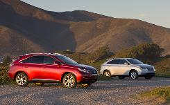 The 2010 Lexus RX crossover SUVs.
