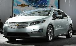 General Motors says the rechargable electric Chevrolet Volt, which it plans to release in late 2010, should get 230 miles per gallon of gasoline in city driving.