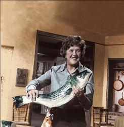Julia Child is credited with introducing French cooking techniques to mainstream America in her television show The French Chef, which began in 1963.