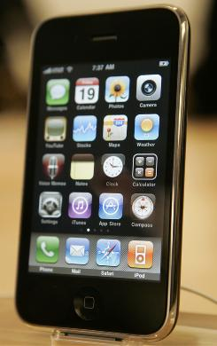 "The Apple iPhone 3GS. The FCC wants to know why Google's free voice app, called ""Google Voice,"" is banned from the device."