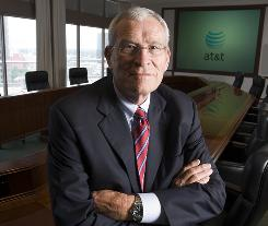 Ed Whitacre is shown in the board room at AT&T headquarters in San Antonio, where he was CEO before becoming chairman of General Motors. Whitacre will appear in new GM ads.