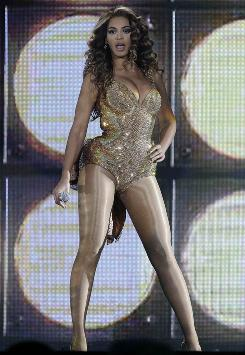 "Beyonce performs during her ""I Am ...Sasha Fierce"" concert in Spain in May."