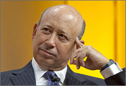 Lloyd Blankfein is at the top of his game, yet criticism of the investment banking industry and its well-paid executives continues after the multibillion-dollar government bailout.