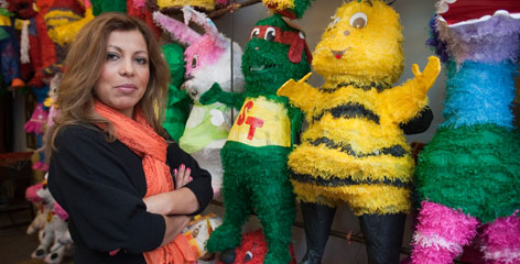 "Pinata Center owner Sussy Deleon sells pinatas imported from her native country of Guatemala to sell in Providence. ""This is a chance to do something entrepreneurial,"" she says."