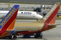 Low-cost airlines like Southwest have grown rapidly in the past 10 years, at the expense of traditional carriers such as Delta.