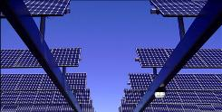 Applied Materials will research crystalline silicon panels such as these mounted on a solar array in California.