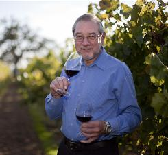 Dan Berger, at the Dutton-Goldfield Winery in Sebastopol, Calif., tastes wines that are offered to airline passengers flying first class.