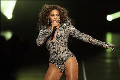 Beyonce performs during the 2009 MTV Video Music Awards at Radio City Music Hall on Sept. 13, 2009, in New York City. She has some of the most-watched videos on the Internet