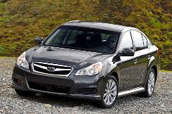 The 2010 Subaru Legacy sedan looks better than its predecessor and it's bigger.