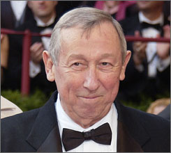 Roy E. Disney arrives for the 76th annual Academy Awards in Los Angeles on Feb. 29, 2004.