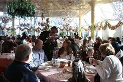Customers lunch in the Crystal Room at Tavern on the Green in New York on Dec. 29. The restaurant is scheduled to serve its last meal on Dec. 31.