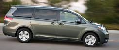 Toyota Sienna is the only minivan with optional all-wheel drive.