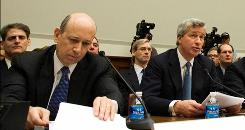 Goldman Sachs CEO Lloyd Blankfein, left, and JPMorgan's James Dimon are scheduled to be among the leadoff witnesses Wednesday.