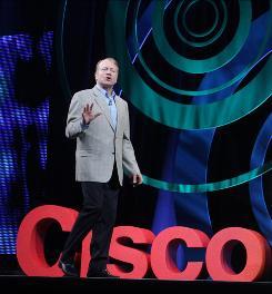 John Chambers, Cisco CEO, at Cisco Live 2009 in San Francisco.