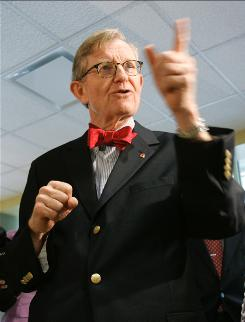 Ohio State University President Gordon Gee, seen here in 2007, is the highest-paid school president in this year's public school survey. His pay is worth more than $1.5 million including salary, retirement and deferred compensation.