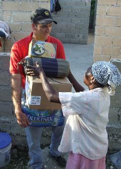UPS executive Craig Arnold is volunteering in Port-au-Prince.