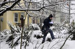 Leslie Bonsiewich delivers mail in Charlottesville, Va.